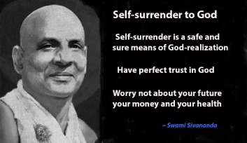 self surrender Sivananda-wall